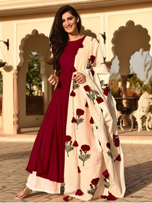 Picture of Rutba07 Kurti With Plazo Suit Collection