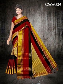Picture of Soft Cotton Silk Saree Collection