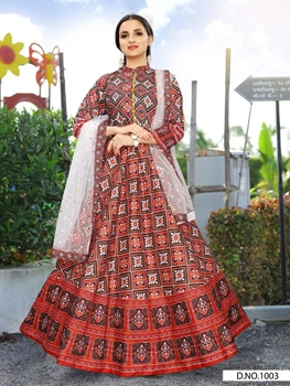 Picture of Raji1003 Designer Gown With Dupatta Collection