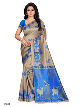Picture of Printed Lichi Silk Saree Collection