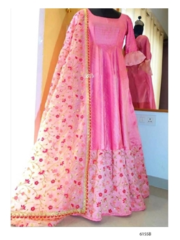 Picture of 6155B Banglori Satin Gown with Dupatta