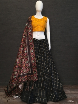 Picture of 1091A Cotton Chex Lehenga Choli