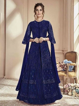 Picture of Designer Long Suit With Ghaghra Collection