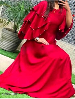 Picture of S3507846 Three Layer Pearls Sleeves Gown