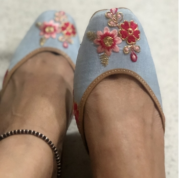 Picture of Blue and Pink Floral Print Shoes