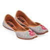 Picture of Grey and Pink Floral Print Shoes