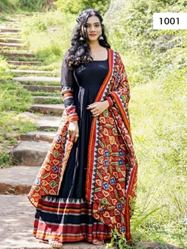 Picture of Black Stylish Designer Long Gown