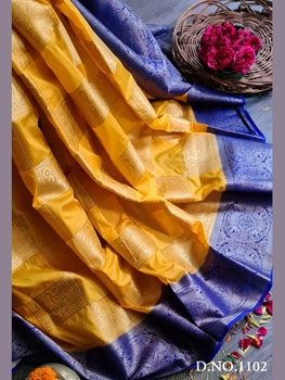 Picture of Mango Nylon Silk Rich pallu Traditional Saree