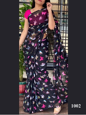 Picture of 1002 Butterflies Printed Saree