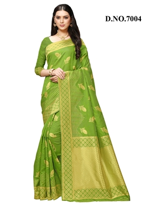 Picture of 7004 Designer Banarasi Silk Saree