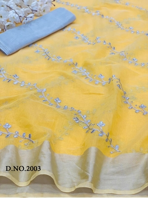 Picture of 2003 Chanderi Embroidered Saree