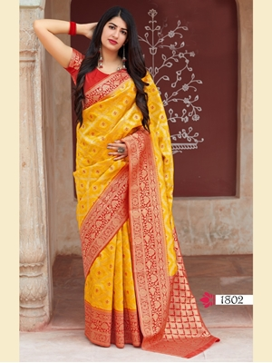 Picture of 1802 Designer Soft Weaving Silk Saree