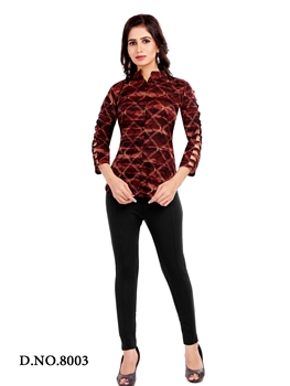 Picture of 8003 Party Wear Rayon Western Top